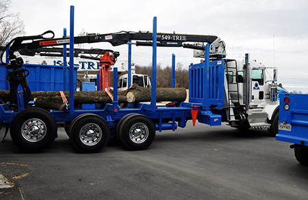 OWH Tree Removal Equipment Howard County MD Chipper, Log Truck